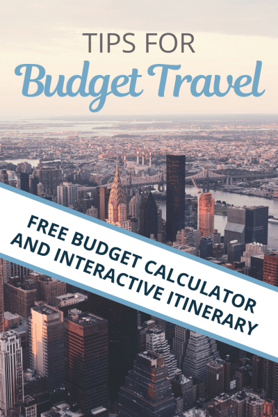 Traveling on a budget is easier than it sounds. We give you tips on how to see the world while not breaking the bank! Use our free budget calculator to help