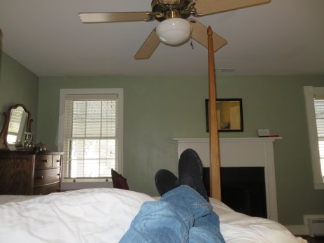 "Relaxing in the ""Sage"" room at Hopkins Ordinary B&B"