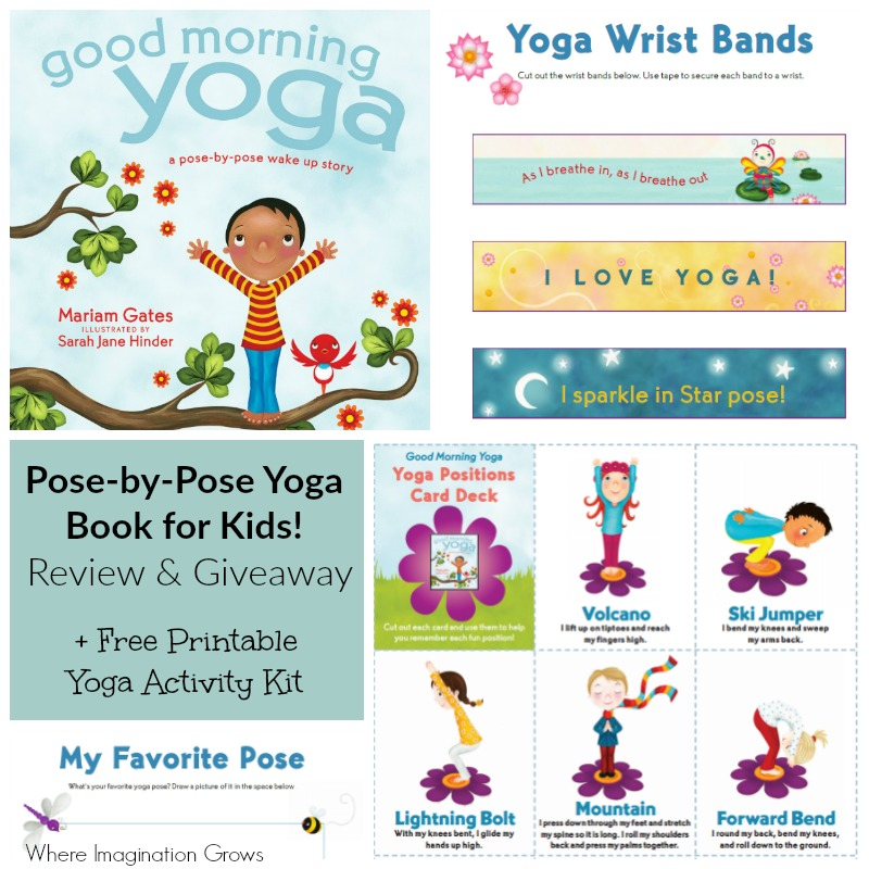 photo relating to Printable Yoga Cards called yoga poses for young children printable