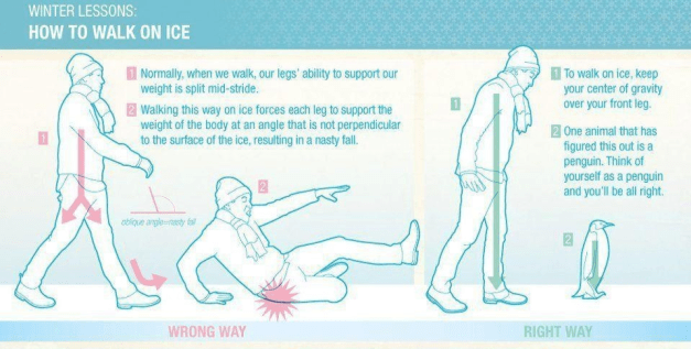 New in Oslo - How to walk on ice