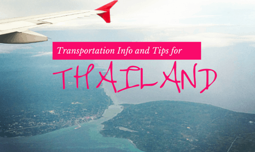 Transportation Info and Tips for Thailand