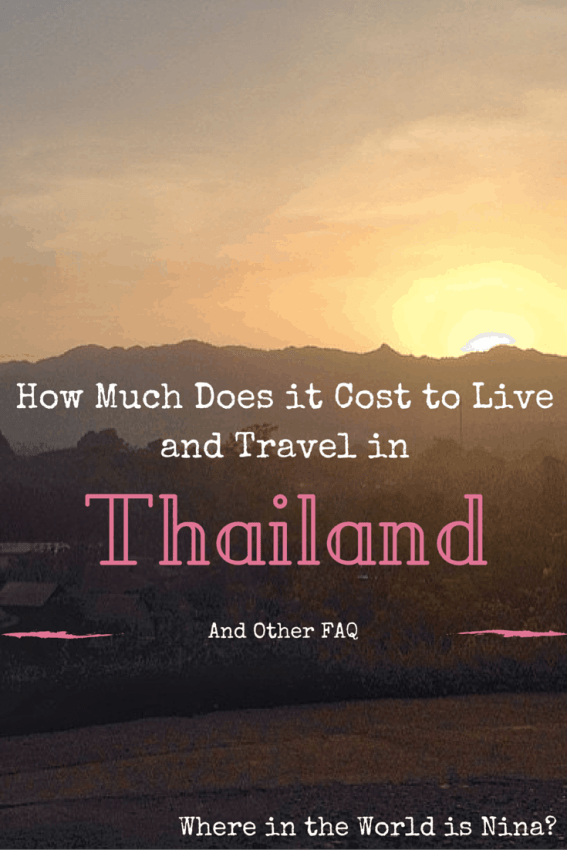 cost to live in thailand