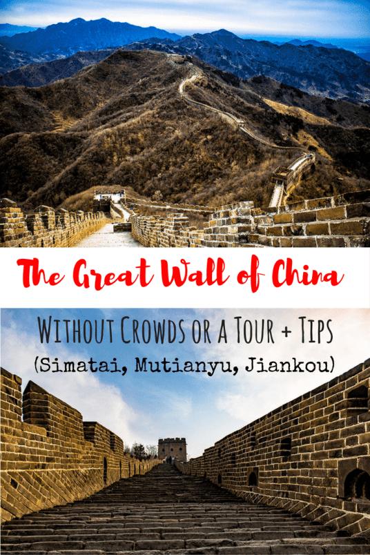 The Great Wall of China Without Crowds or a Tour + Tips (Simatai, Mutianyu, Jiankou)-min