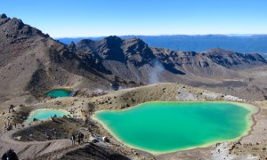 The Crater Lakes look like you've landed in Jupiter, but it's actually a reward for the punishment and pleasure that is the Tongariro Crossing.