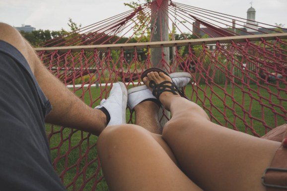 Care and I Laying on the Hammock