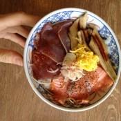 Dad's sashimi bowl in Tokyo