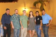 The Six! Here are the three Americans and three Nicaraguans who led the youth conference.