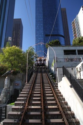 Angels Flight funicular, not in use anymore