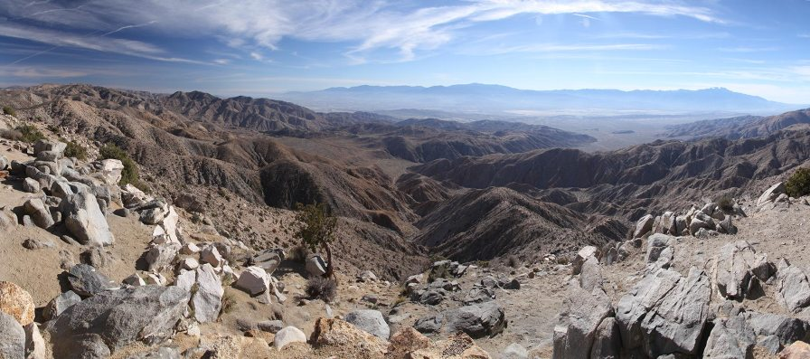 Keys views, view on the Coachella valley, the San Andreas fault line and Palms Spring