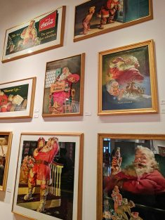 Santa oil paintings
