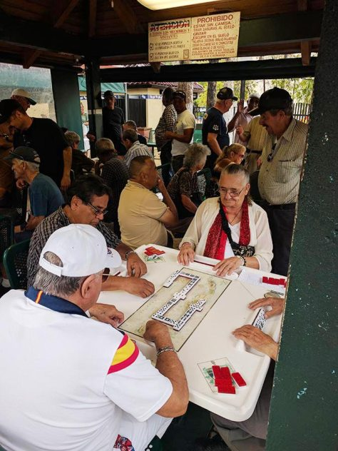 Cuban people playing dominos