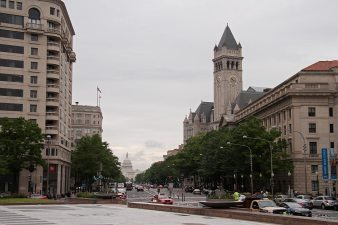 Pennsylvania avenue and the old post office tower