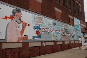 Waldmire's memorial mural