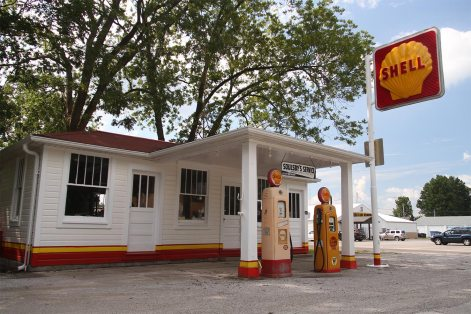 Soulsby's gas station (closed, restored)