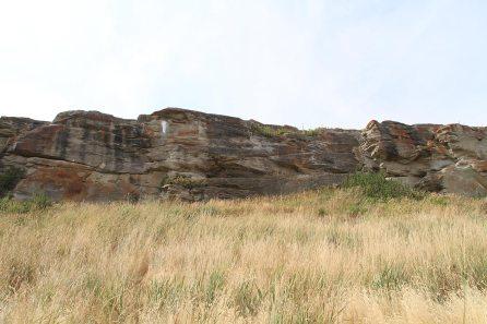 The kill site (the cliff)