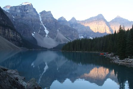 Lake Moraine at sunrise