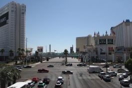 View on Mandalay Bay (see the black dot on the windows)