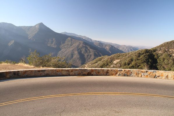 Driving up the Sierra Neveda