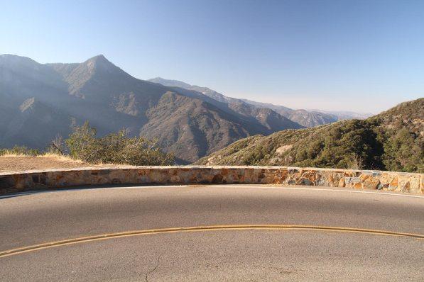 Driving up the Sierra Neveda