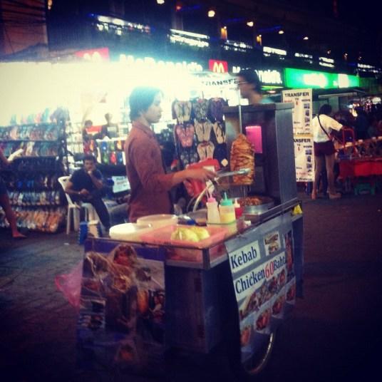 kebab na Khao Sanie