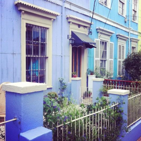 niebieskie domy