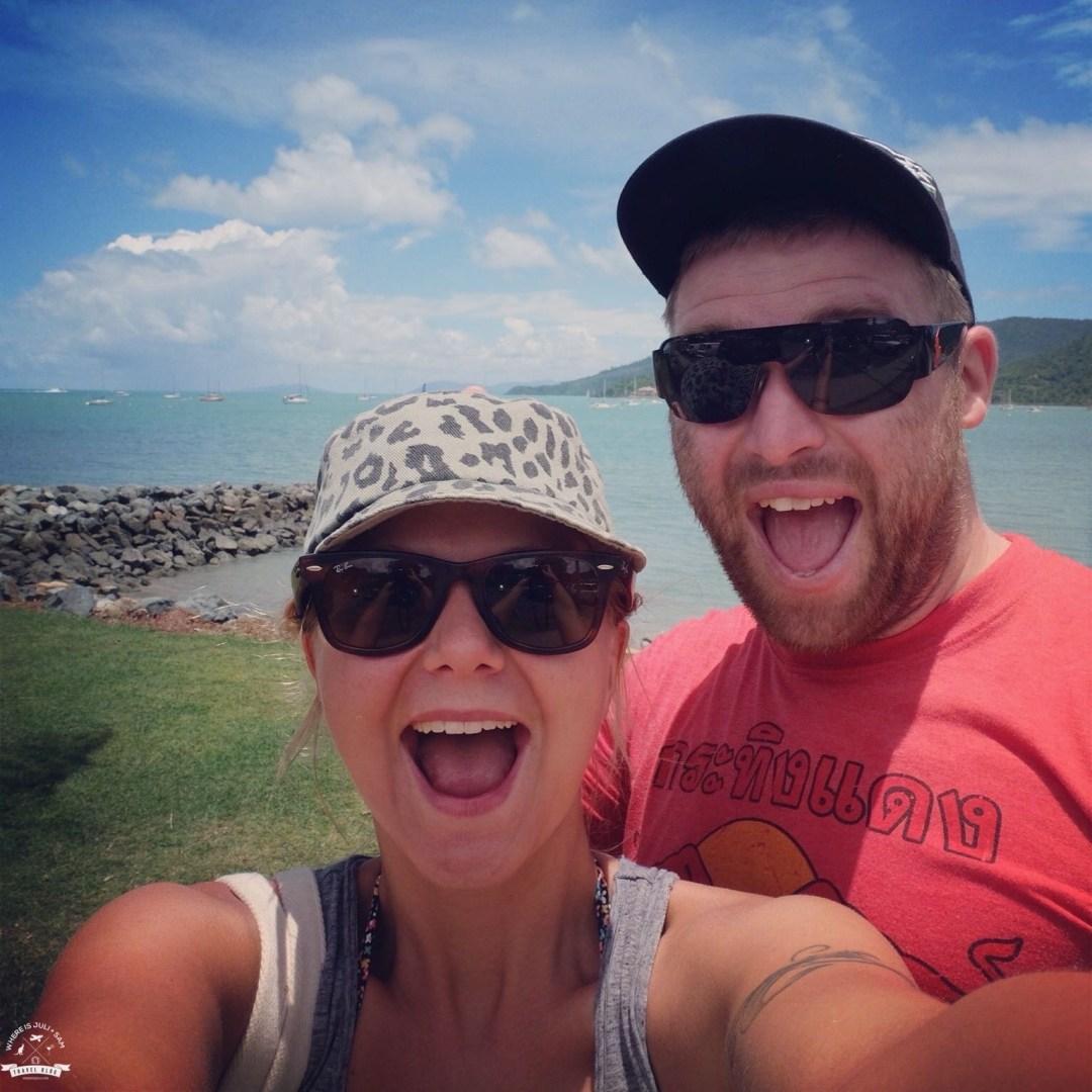 Julia i Sam w Airlie Beach