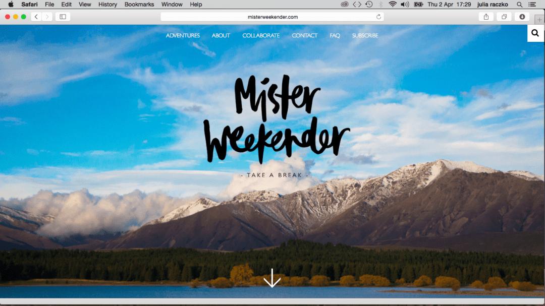 mister weekender
