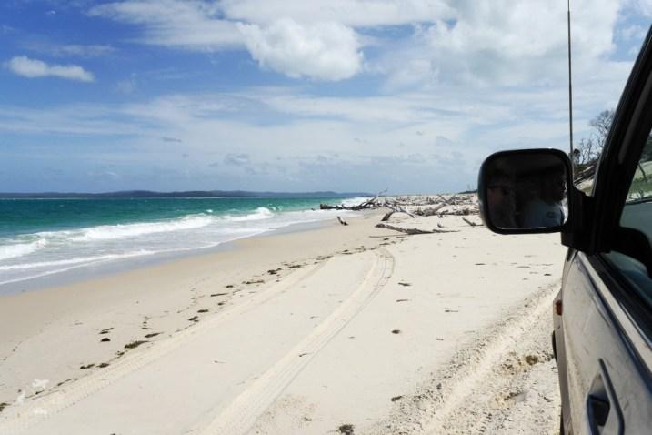 Moreton Island zawalona droga