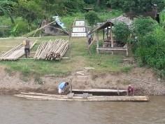 memorial bridge bamboo rafting
