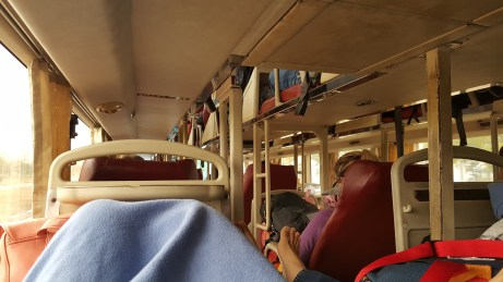 The bus was a bit smelly, but quite comfortable