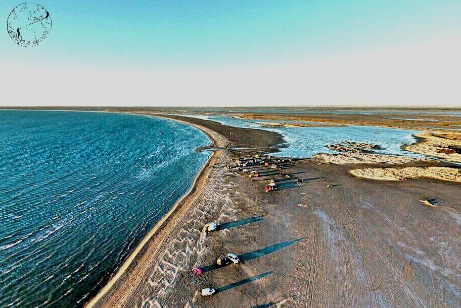 Plage de Beauduc vue du ciel, spot de kitesurf en France