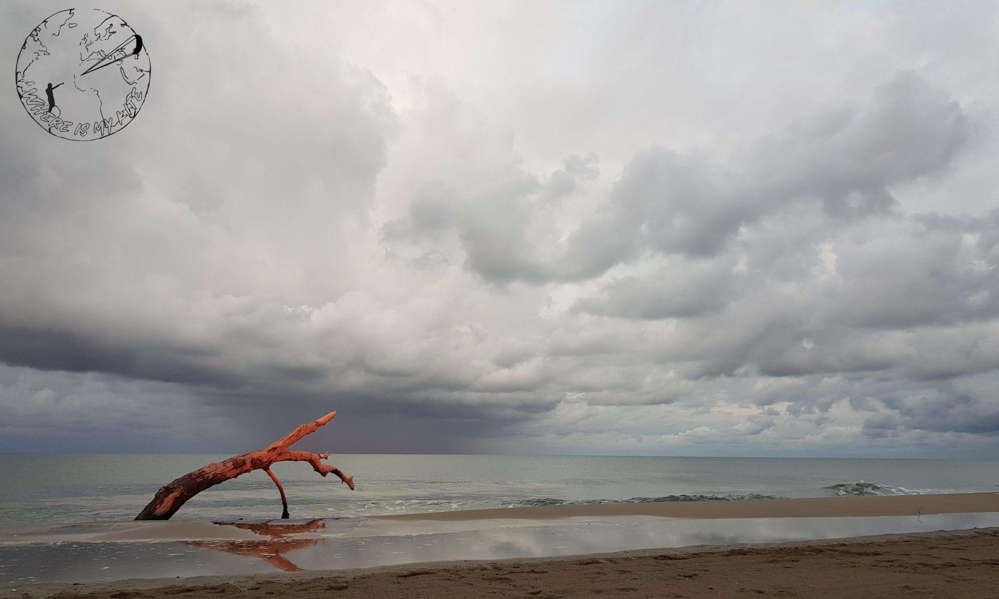 Spot de kitesurf de la plage de Napoléon sunset