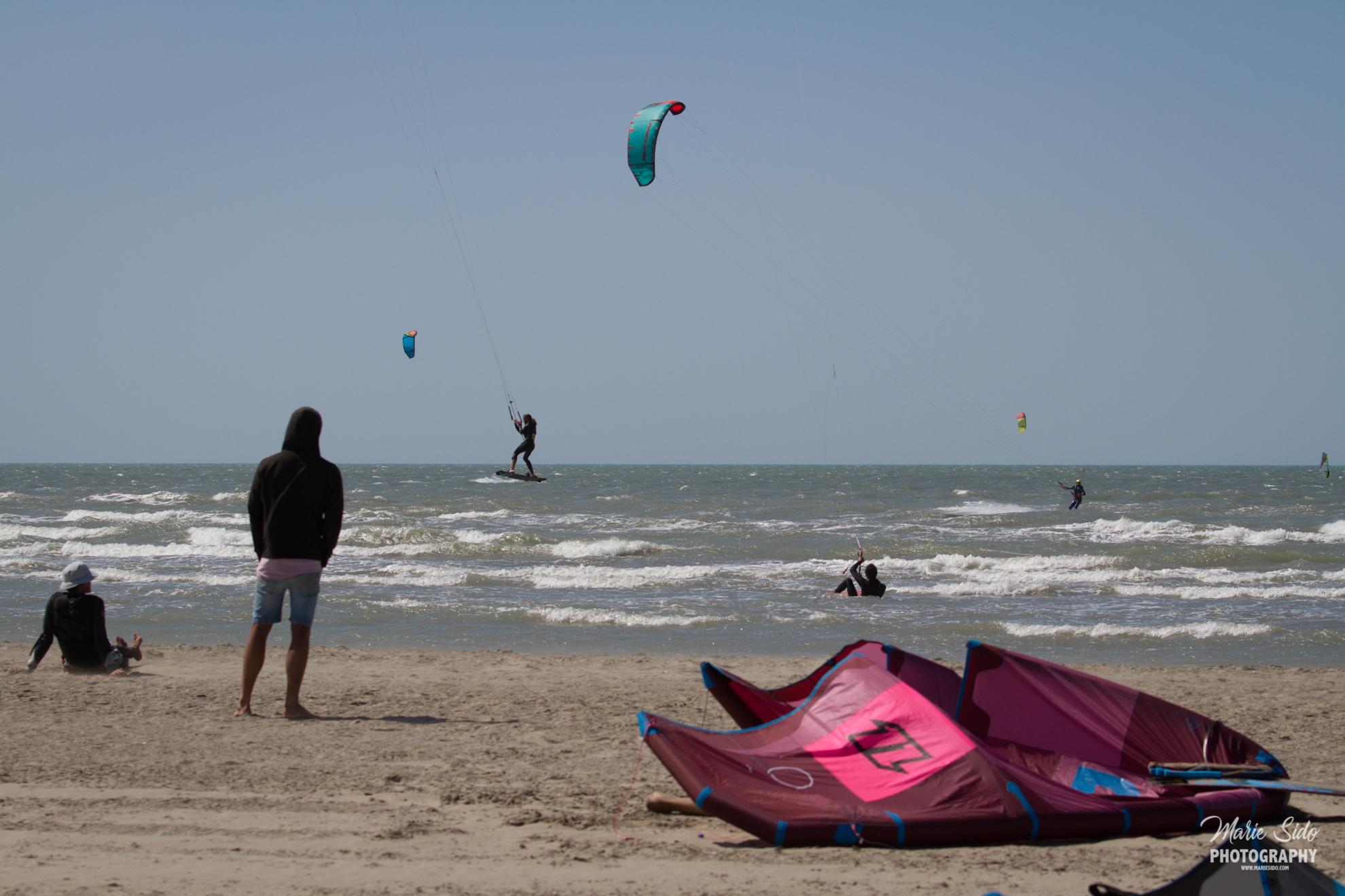Beauduc Kitesurfing, vanlife en nature, Mari Sido photography