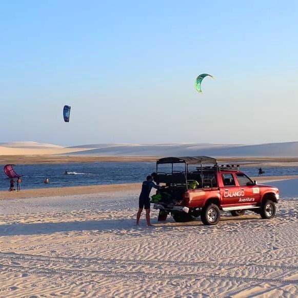 Spot de kitesurf dans les Lençois, kitetrip Brésil