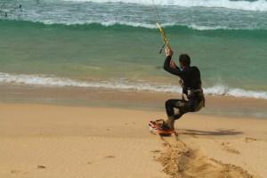 Beach start, praia de Chaves, Boa Vista kitetrip, Cap vert