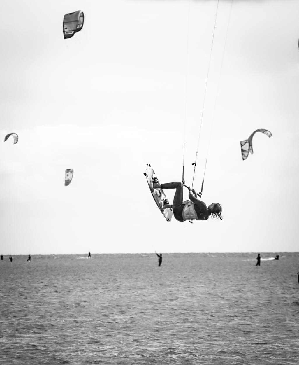 Shooting photo de kitesurf avec Marjo