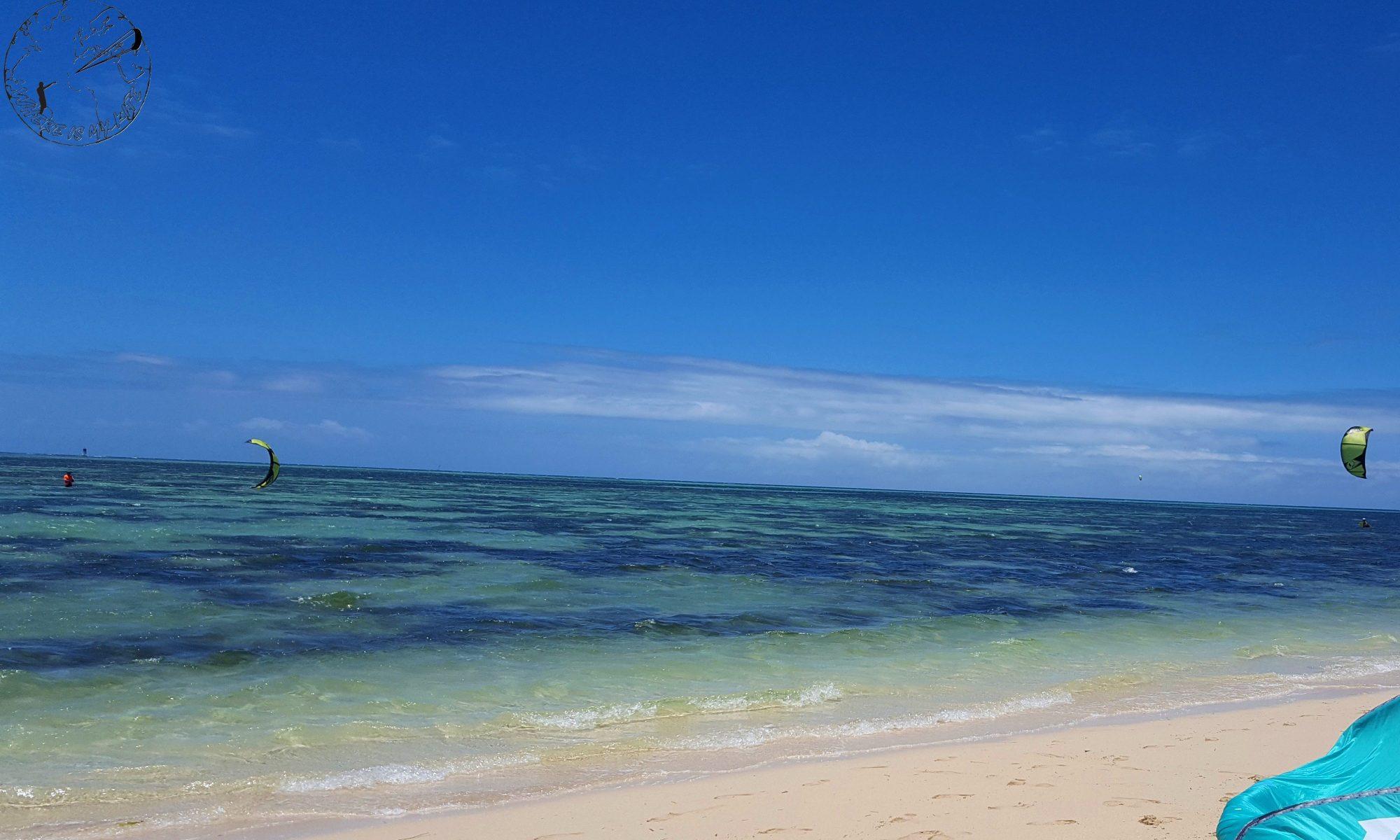 Kitesurf à l'Îlot Maître, Polynésie
