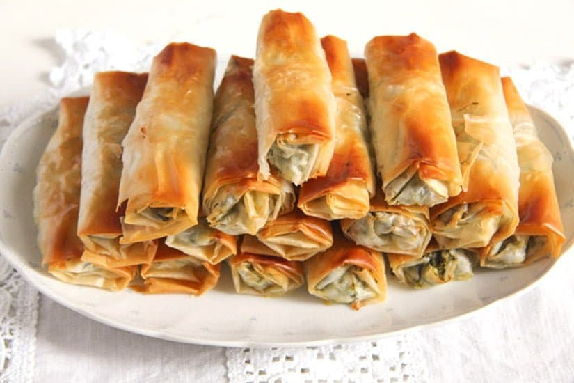 albanian cheese rolls 3 Baked Albanian Spinach Rolls with Feta