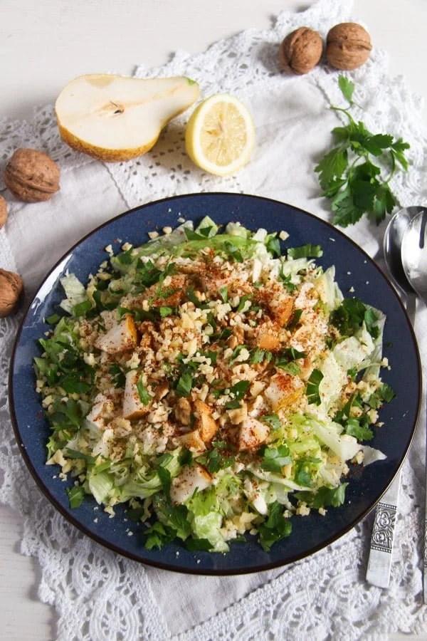 celeriac salad ed 1 Autumn Pear, Celeriac and Walnut Salad with Cheese