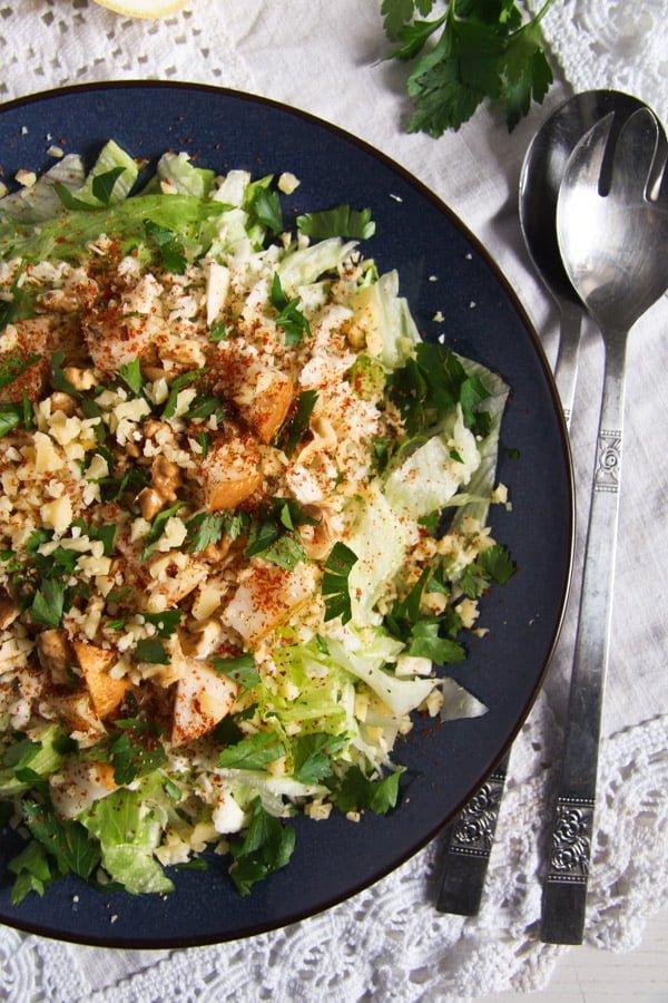 celeriac salad ed 3 Autumn Pear, Celeriac and Walnut Salad with Cheese