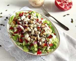 %name salad pomegranate pears