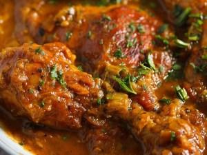 rhubarb chicken 300x225 Fresh Apricot Chicken Breast Stew with Herbs