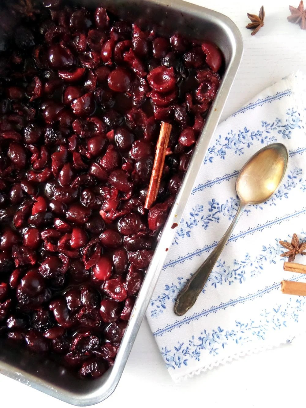 poached cherries Roasted Sweet Cherries with Cinnamon and Strained Yogurt