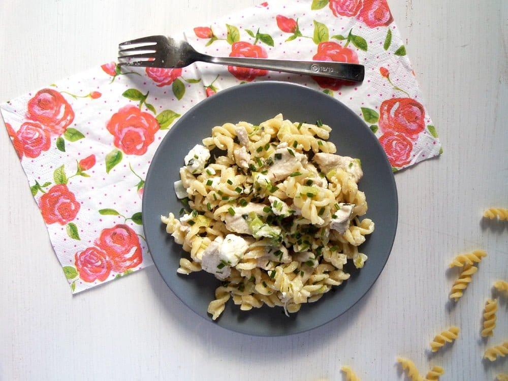 fusili chicken feta Quick Fusilli with Chicken, Feta and Spring Onions