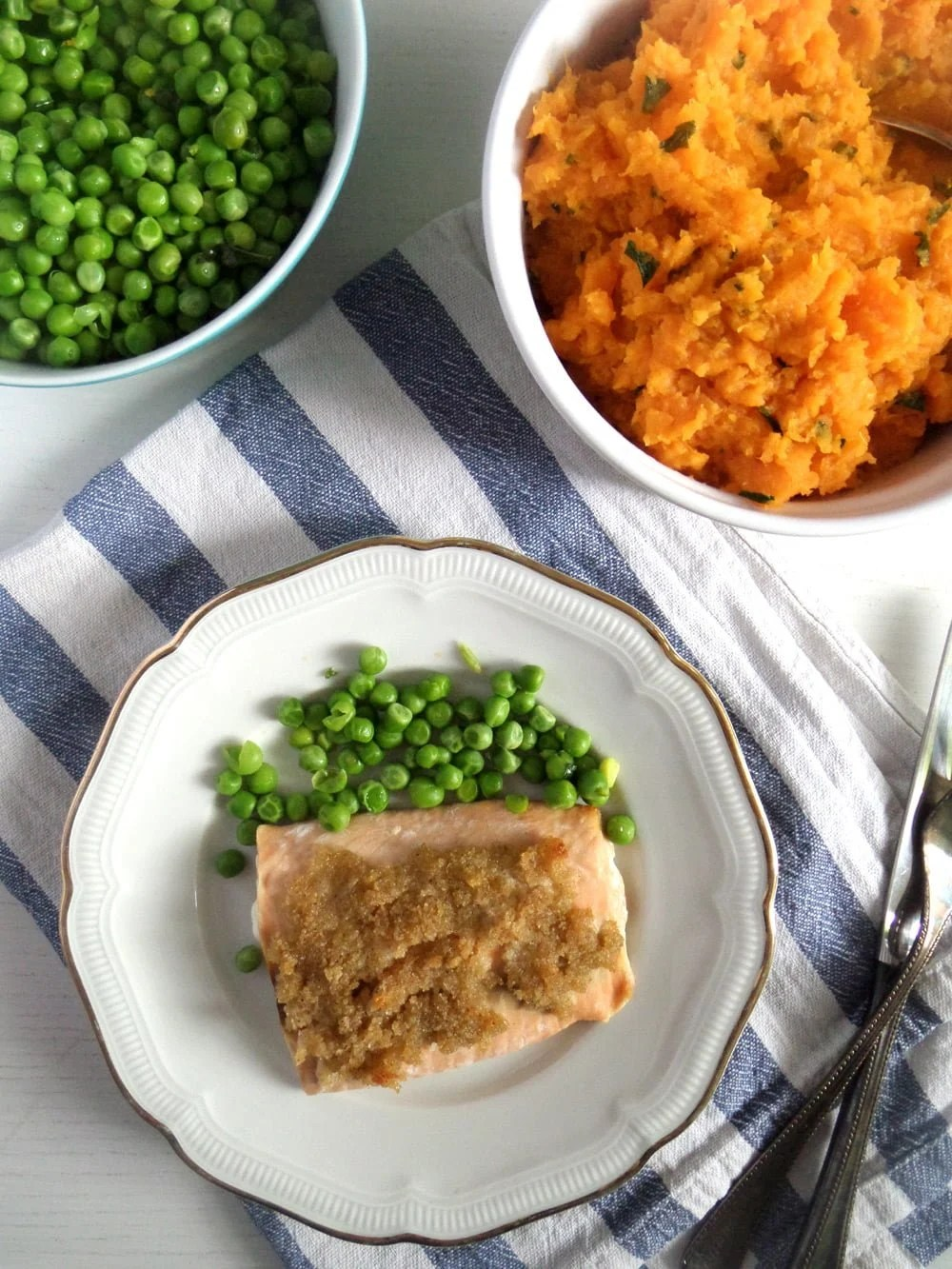 salmon lime sweet potatoes Salmon with Lime Crust and Mashed Sweet Potatoes