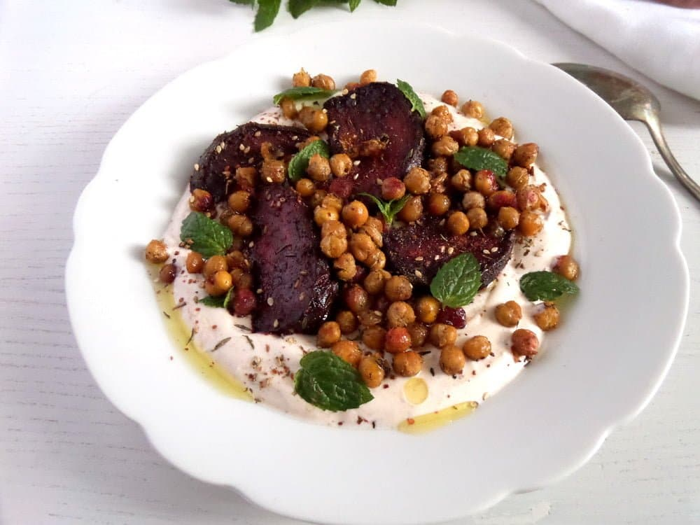 Roasted Beetroots with Crisp Chickpeas