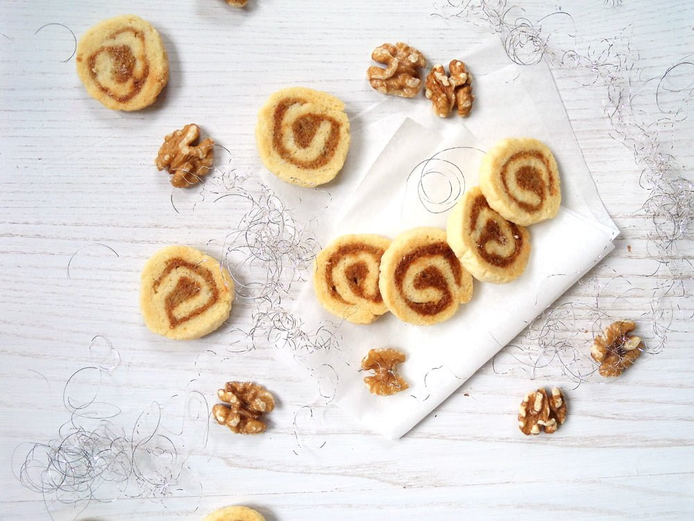Walnut Marzipan Cookies