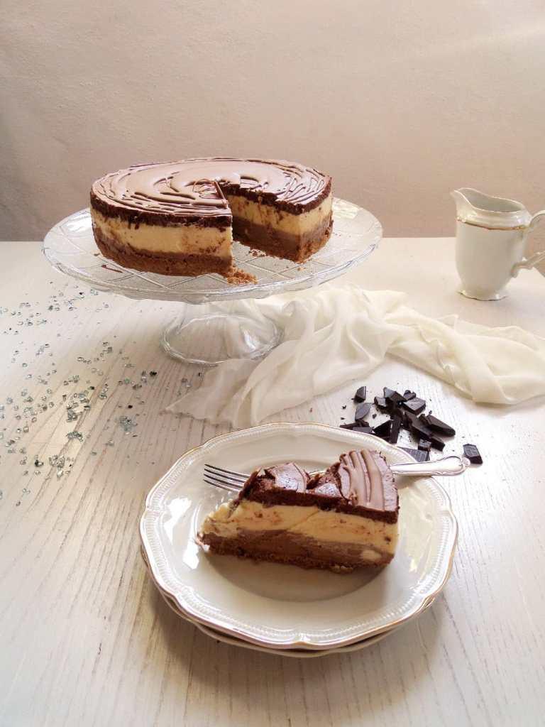 chocolate mousse three choc 768x1024 Three Layer Chocolate Mousse Cake with Chocolate Glaze