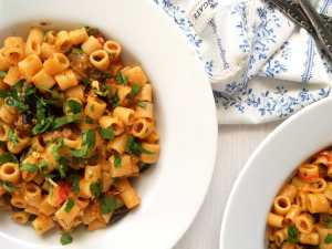%name pasta veggies eggplant