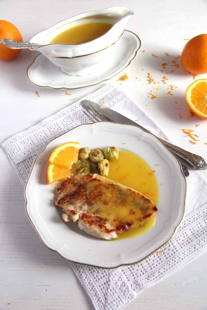 chicken and orange sauce 683x1024 Skillet Chicken Breasts with Velvety Orange Sauce